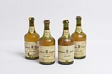 4 bouteilles CHÂTEAU-CHALON J. Macle 1976 (1 eta, 1 LB, 2 MB, caps cire cassée)