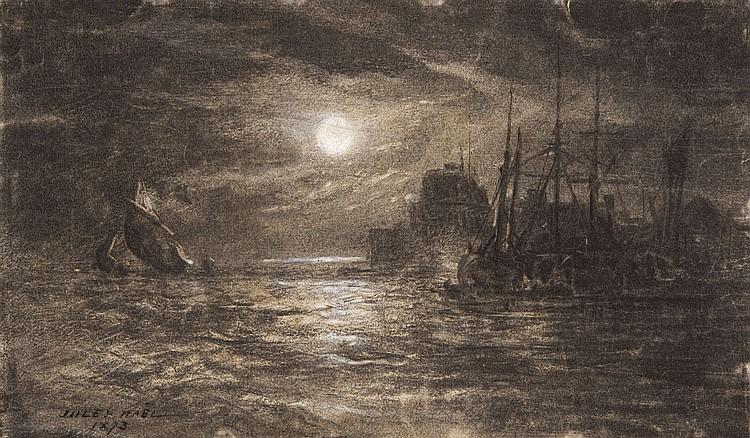 Jules NOËL (1810-1881) Vue d'une ville orientale