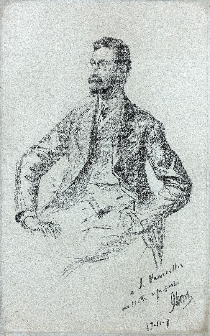 Jules CHÉRET (1836-1932) Portrait de Louis Vauxcelles