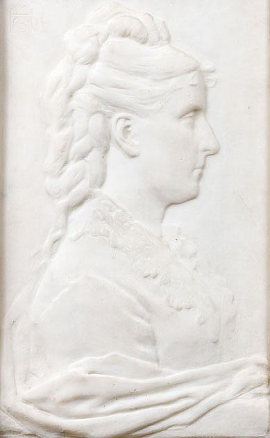 Henri CROS (1840-1907) Portrait de femme de profil, 1878
