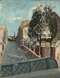 Alfonse QUIZET (1885-1955) Sans titre, 1922 Huile sur toile marouflée sur carton Signée, datée et dédicacée en bas à gauche