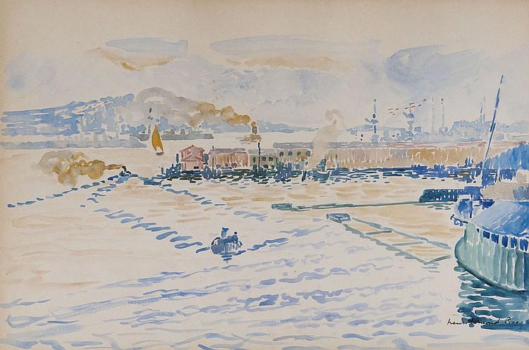 Henri Edmond CROSS (1856-1910) Le Port de Toulon