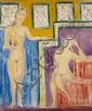 Isaac MINTCHINE (1900-1941) Inspiration d'un poète Huile sur toile Signée en bas à droite et titrée au dos 56 x 46 cm