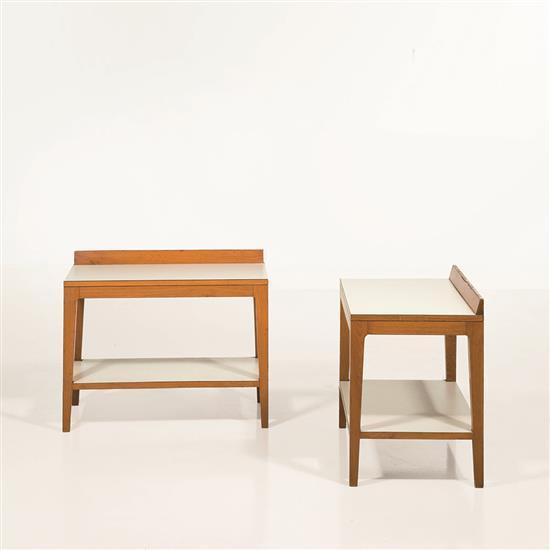 Gio Ponti(1891-1979), Attribué àPaire de petites tables d'appoint