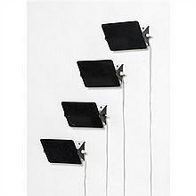 Charlotte Perriand (1903-1999)Suite de quatre appliques à volets orientables