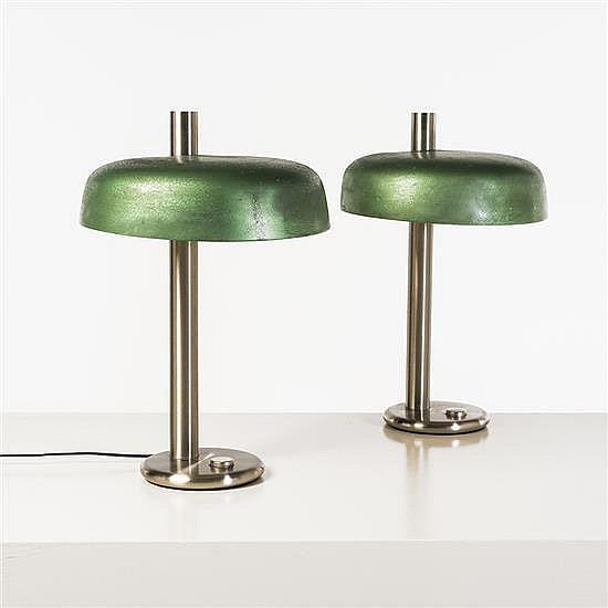 Travail italienPaire de lampes de table