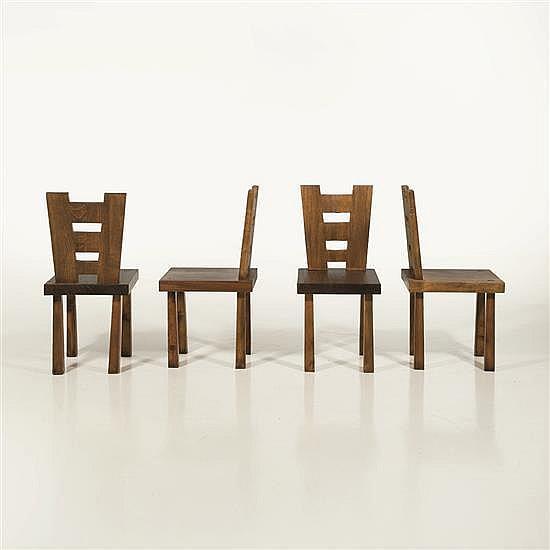 Travail italienSuite de quatre chaises