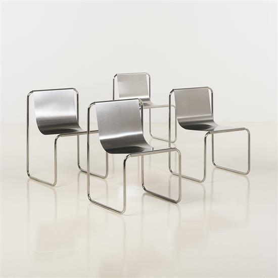 Patrick Gingembre (XXè)Suite de quatre chaises