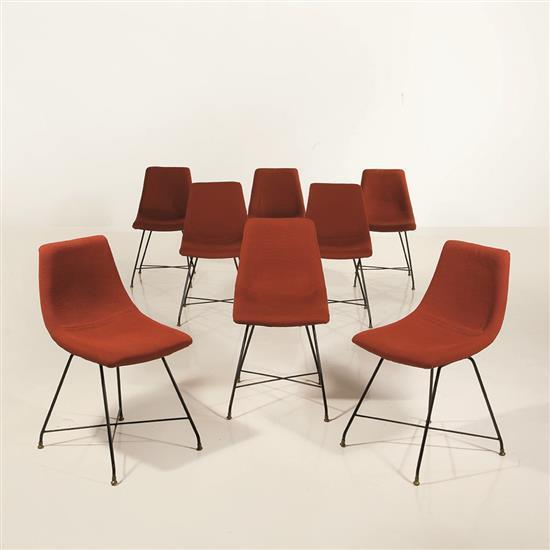 Augusto Bozzi (1924-1982)Suite de huit chaises