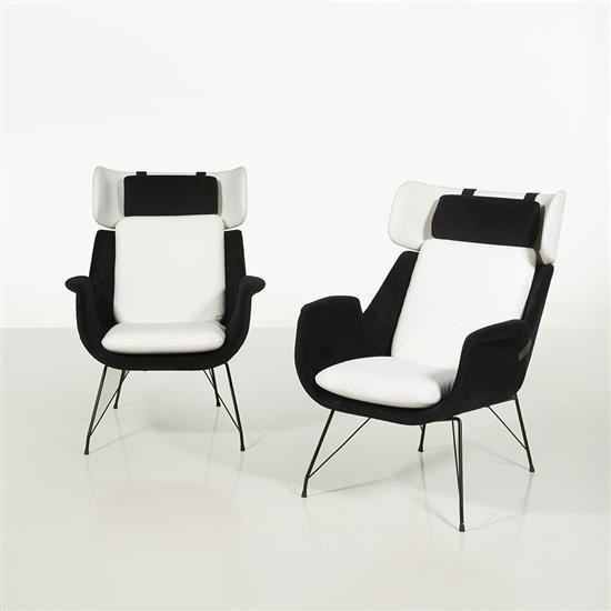 Augusto Bozzi (1924-1982)Paire de fauteuils
