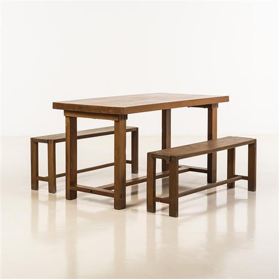 Pierre Chapo (1927-1986)Une table et deux bancs