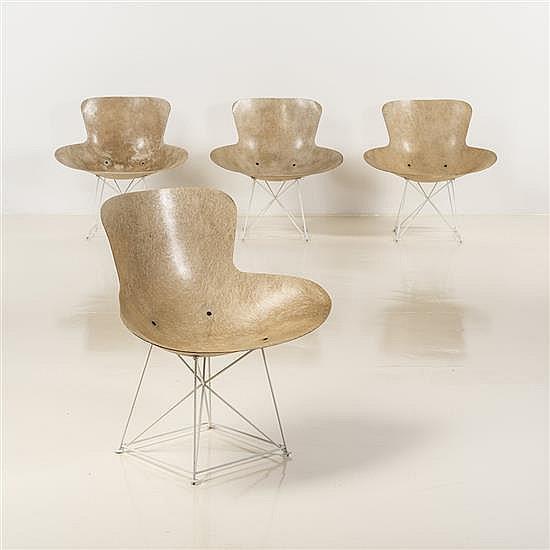 Bernard BrunierSuite de quatre fauteuils