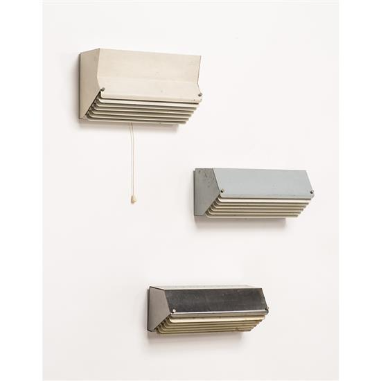 Jacques Biny (1913-1976)Suite de trois appliques à grille
