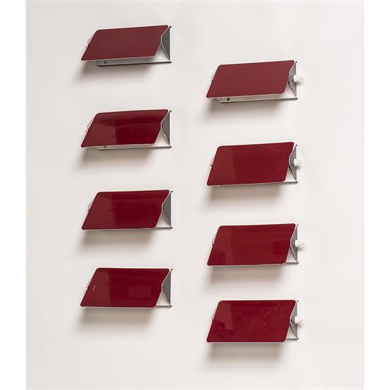 Charlotte Perriand (1903-1999)Suite de huit appliques à volets orientables