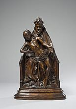 Trône de Grâce en chêne sculpté
