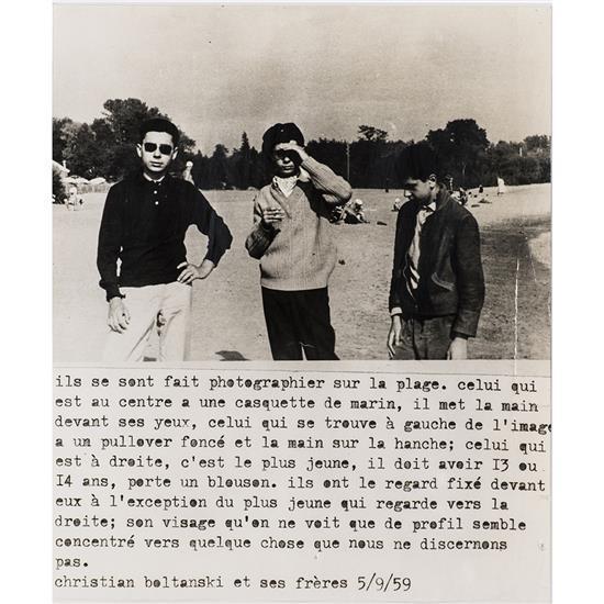 Christian Boltanski (1944)Christian Boltanski et ses frères, 5.09.59