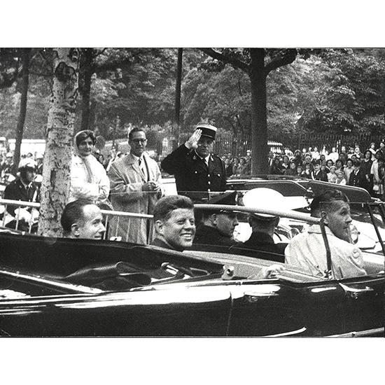 Jacques Lowe (1930-2001)Arrivée à Paris de John Fitzgerald Kennedy, 31 mai