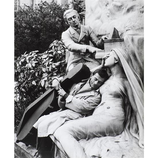 Robert Doisneau (1912-1994)Le rêve de Maurice Baquet, 1957, extrait de la série