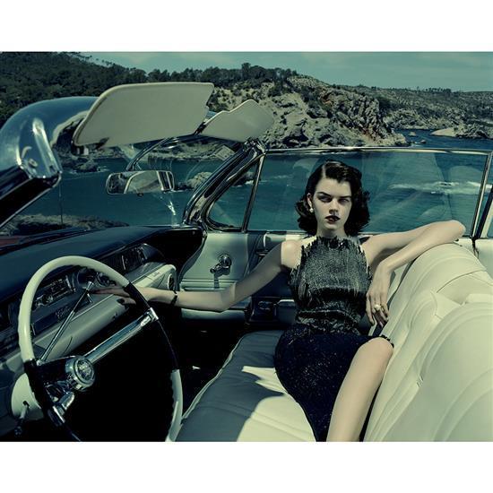 Jacques Olivar (1941)Blue cadillac, Antonia, Balearic islands, 2013