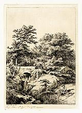Eugène BLÉRY LE PONT PRÈS DE CHEVREUSE