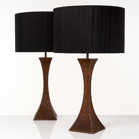 Robert Whitley (né en 1924)Paire de lampes