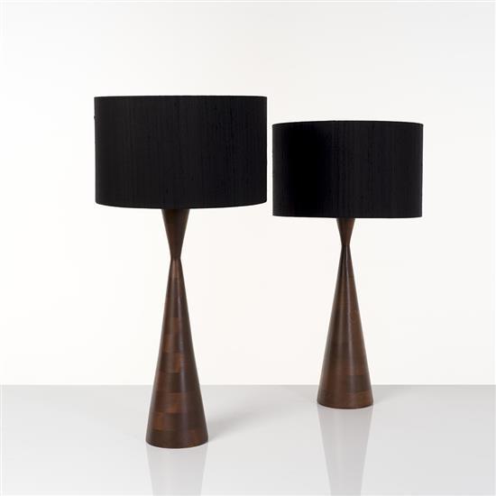 Phillip Llyod Powell (1919-2008)Paire de lampes