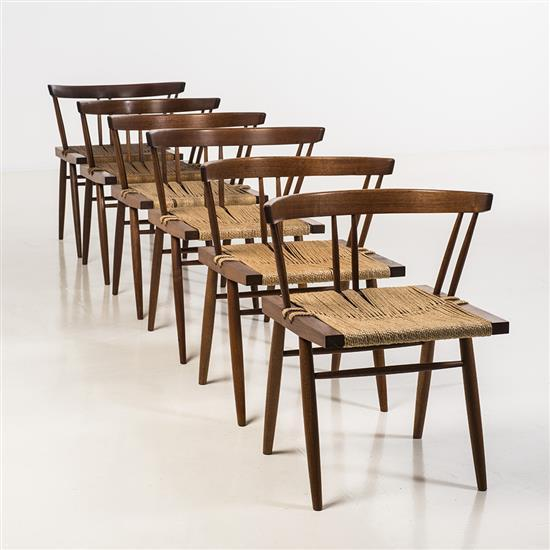 George Nakashima (1905-1990)Grass-seated chair