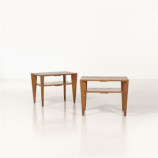 Russel Wright (1904-1976)Paire de tables basses