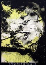 """EMILIO VEDOVA (1919, Venezia - 2006, Venezia) [Italia] """"Spoleto Festival 87"""" 1987"""