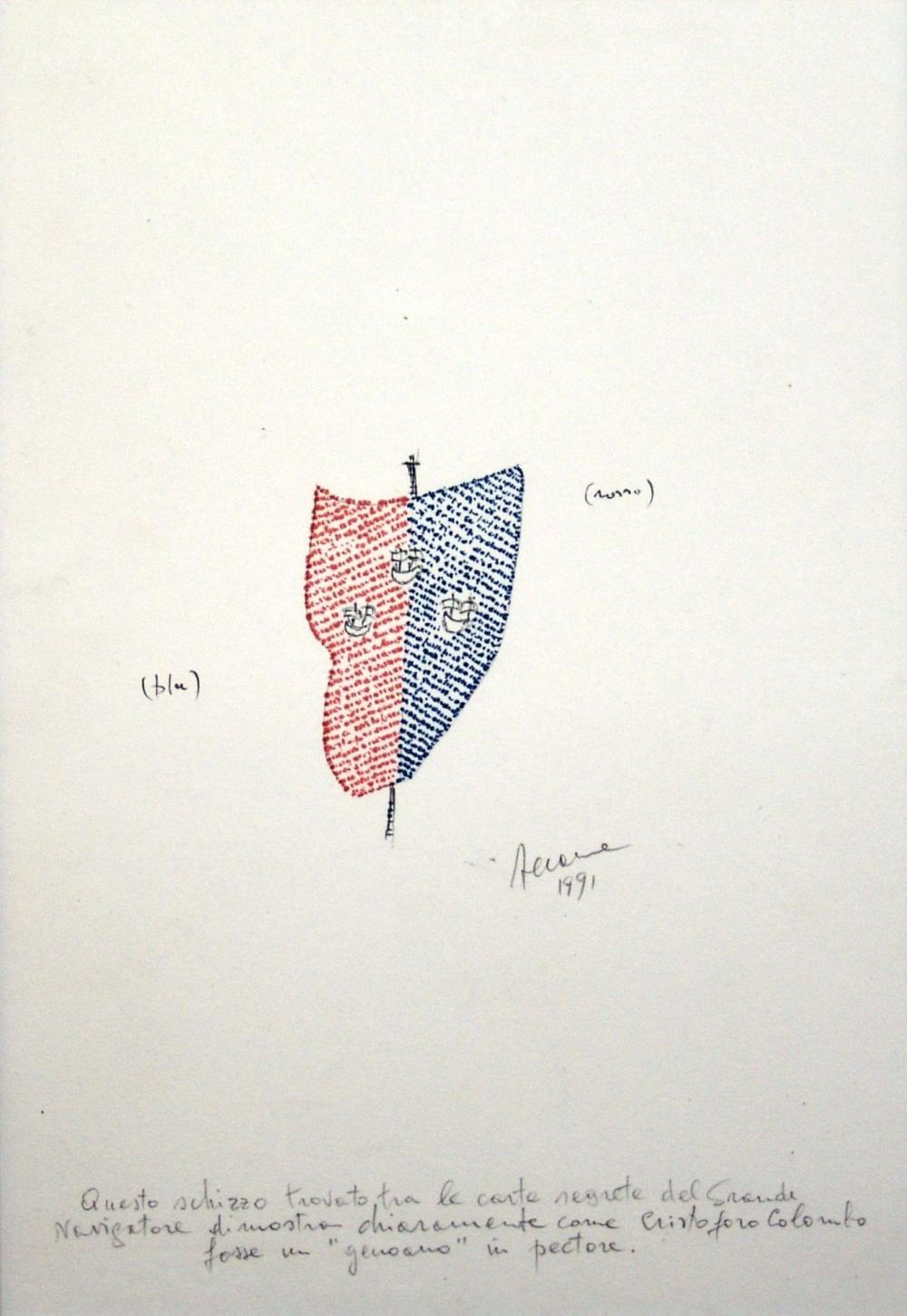 VINCENZO ACCAME (1932, Loano - 1999, Milano) [Italia] senza titolo, 1991