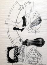 "VALERIANO TRUBBIANI (1937, Macerata - 2020, Ancona) [Italia] ""Lares familiares"" 1971"