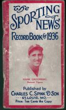 The Sporting News Record Book for 1936