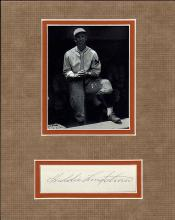 Freddie Lindstrom Cut Signature Matted with a Photograph Certified by JSA