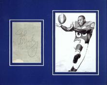 John Mackey Cut Signature Matted with a Photograph Certified by JSA