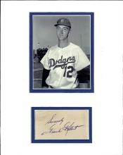 Frank Kellert Cut Signature Matted with a Photograph Certified by JSA