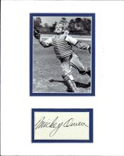 Mickey Owens Cut Signature Matted with a Photograph Certified by JSA