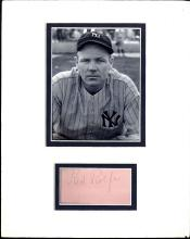 Authenticated Red Rolfe Cut Album Page Matted with a Photograph Certified by JSA