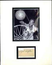 Nate Clifton Cut Signature Matted with Photograph Certified by JSA James Spence Authentication
