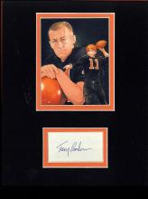 Terry Baker Cut Signature Matted with a Photograph Certified by JSA James Spence Authentication