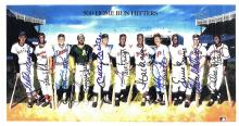 500 Home Run Club Signed Print Certified by The Score Board Mantle, Williams, Mays, Aaron, Robinson