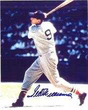 Ted Williams Signed 8 x 10 Photograph Certified by The Score Board