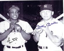 Willie Mays and Mickey Mantle Signed 8 x 10 Photograph Certified by Score Board