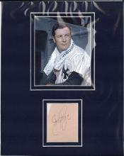 Joe Page Cut Signature Matted with a Signature Certified by JSA James Spence Authentication