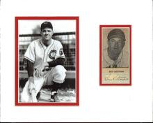 Ken Keltner Cut Signature Matted with a Photograph Certified by JSA James Spence Authentication