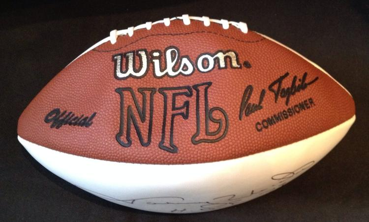lowest price 216a8 2bbf0 Johnny Unitas Signed Football Certified by JSA James Spence ...