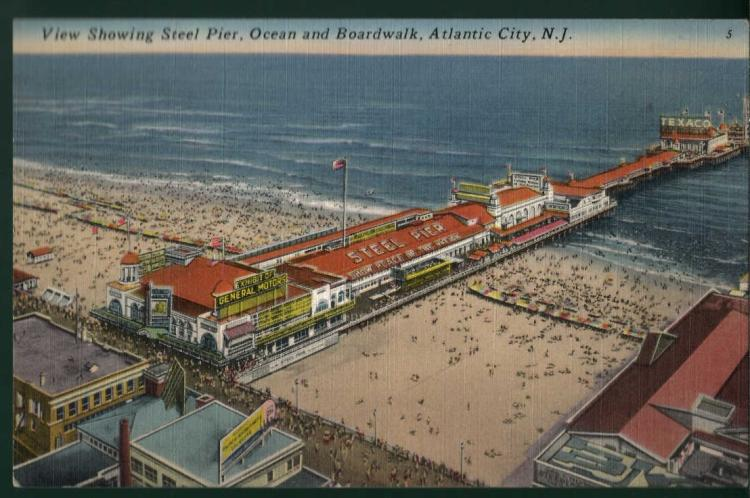 Steel pier postcard atlantic city for Steel piers for house