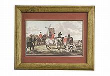 Print of Gentlemen on horses