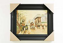 City Life Scenery Painting Signed by Artist: SaVino