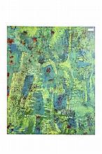 Green Acrylic Painting on Canvas Artist Signed: Mark Vinsun