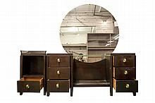 Mid Century Modern Vanity with Nightstand